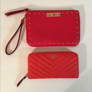 Victoria's Secret Red Wristlet & Wallet Bundle